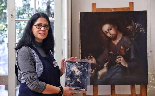 El restaurador debe ofrecer una imagen más cercana posible a la pieza original. FOTOS: VÍCTOR GAHBLER