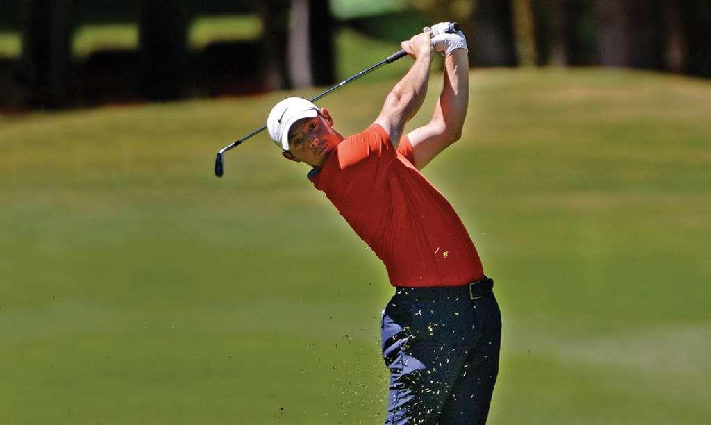 PRECISO. Rory McIlroy dejó en claro en el Club de Golf Chapultepec que va por todo. Foto: Reuters