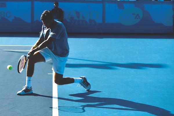 INSPIRADO. El tenista mexicano sintió el apoyo de la gente en su partido. Foto: Imagenshop