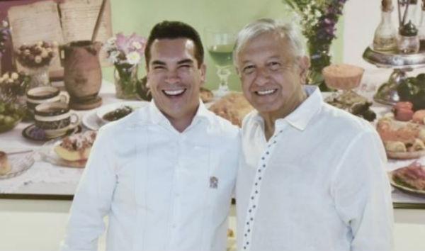 Alejandro Moreno Cárdenas y Andrés Manuel López Obrador. FOTO: ESPECIAL
