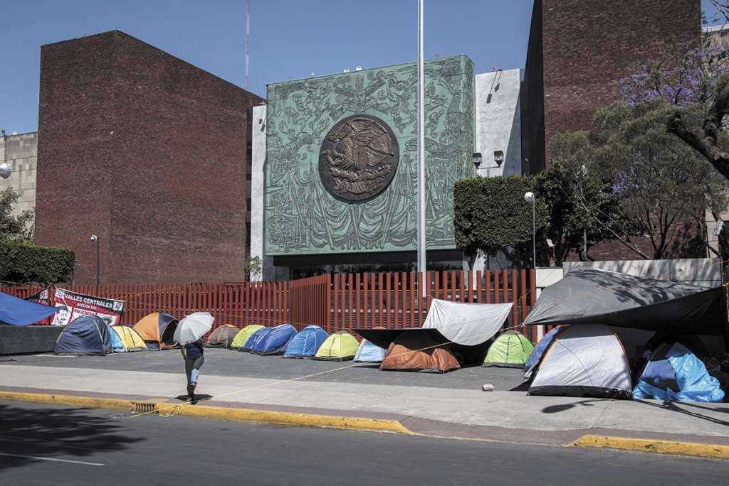 Protestas de la CNTE en San Lázaro hace dos semana. FOTO:CUARTOSCURO