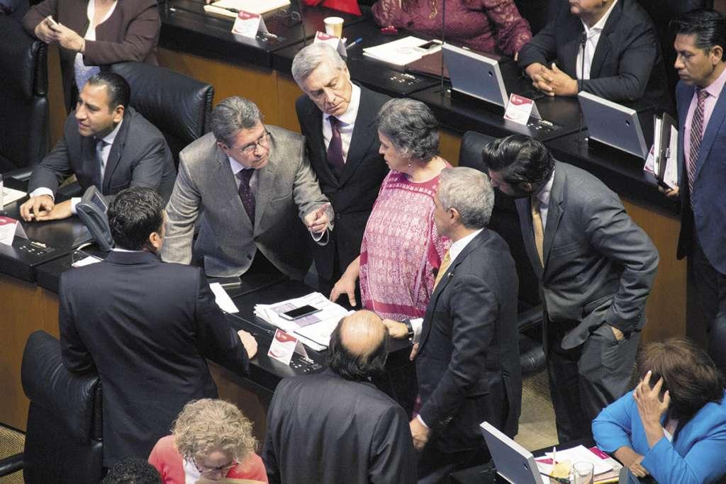 Morena, PES, PT y PVEM fueron los promotores de la comparecencia.FOTO: CUARTOSCURO