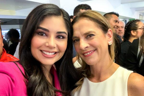 Tras la difusión de un video donde la legisladora saluda al Presidente de México en el Aeropuerto de Nayarit. Foto: Especial.