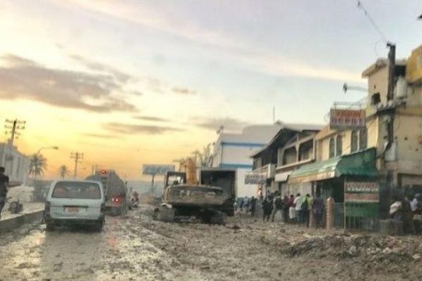 La zona occidental de Haití fue azotada por fuertes lluvias desde la noche del martes. Foto Especial