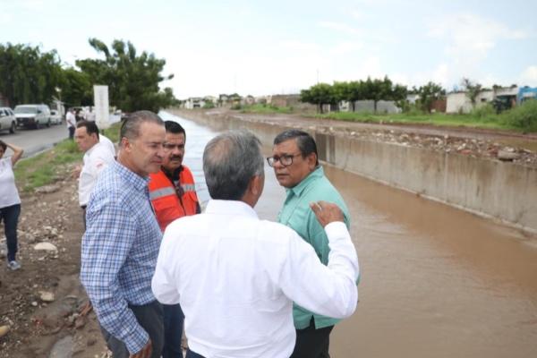 En Sinaloa se invierte en diferentes obras de infraestructura hidráulica mil 394 millones 650 mil 357 pesos.  Foto: Cortesía