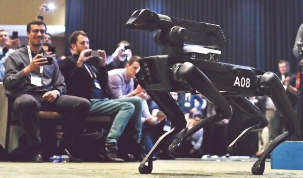 SPOT. Es el nombre de este androide que se ha hecho famoso en YouTube. Foto: AP