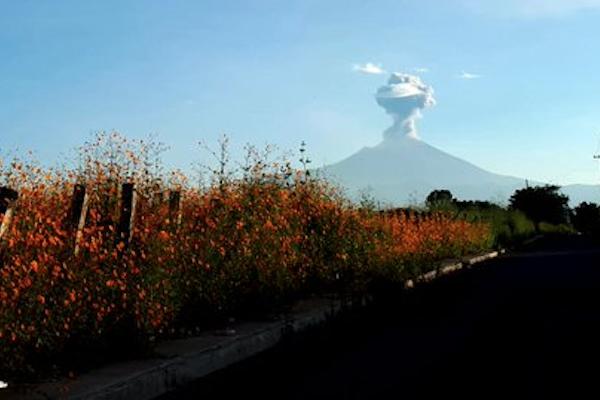 explosiones popocatepetl fumarolas actividad 9 octubre