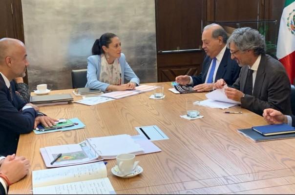 Claudia Sheinbaum y Carlos Slim se reunieron. Twitter: Claudia Sheinbaum
