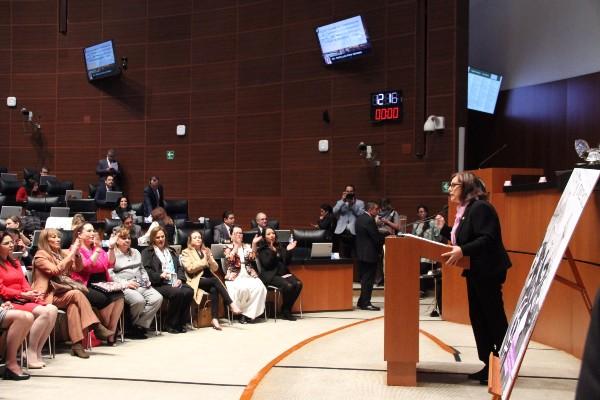 Martha Lucía Mícher, presidenta de la comisión de igualdad de género en el Senado. Foto:  @MaluMicher