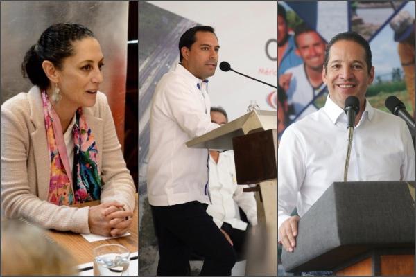 De la CDMX, Yucatán y Querétaro, los gobernadores mejor evaluados. Foto: Especial