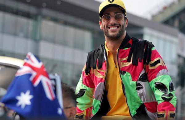 El piloto australiano mostró su lado más mexicano. FOTO: @F1SanJoseCR