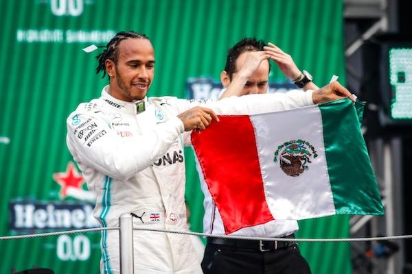 El inglés Lewis Hamilton fue el gran ganador de GP de México 2019. Foto: Nayeli Cruz