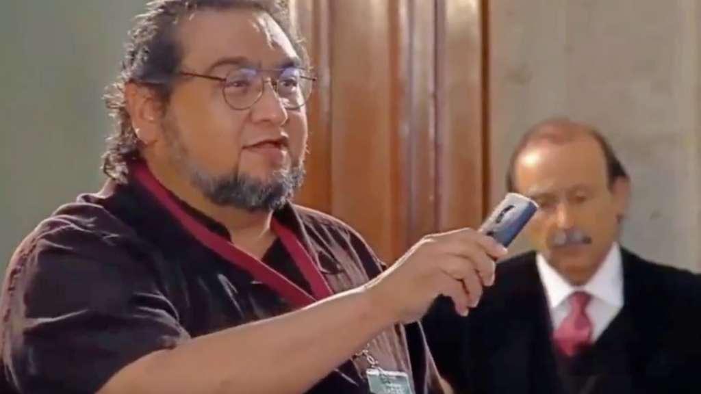 Al periodista Luis Cardona se le retiró su acreditación para las conferencias matutinas. FOTO: ESPECIAL