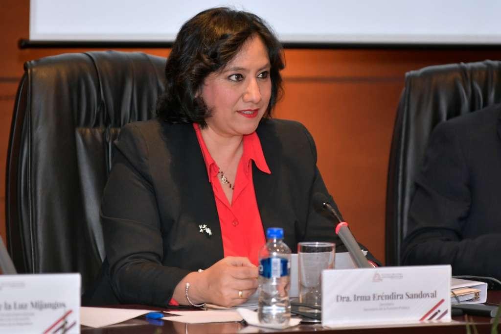 La secretaria Sandoval Ballesteros llamó a analizar la respuesta a las recomendaciones del SNA sobre la elección de jueces y magistrados. Foto: Especial