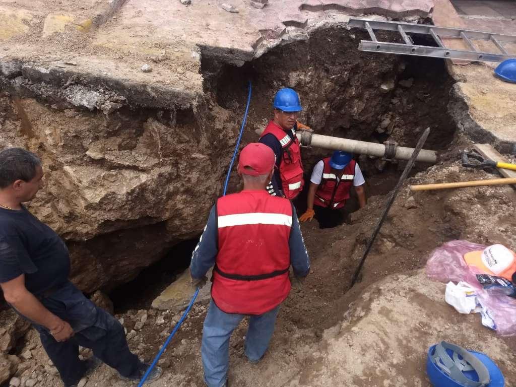 Al iniciar las labores, los trabajadores descubrieron que este comunicaba con la mina.  Foto: Leticia Ríos