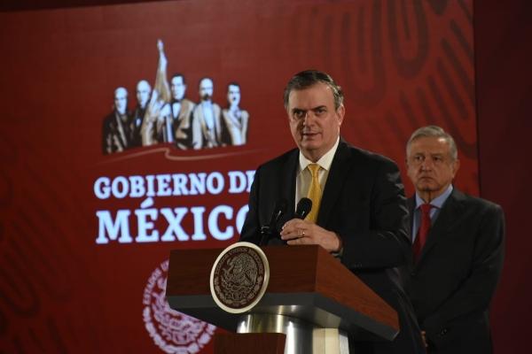 El canciller Ebrard gestionó el traslado a petición del presidente López Obrador. Foto: Daniel Ojeda