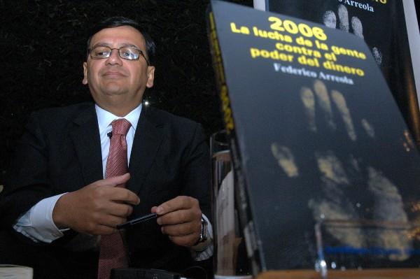 Federico Arreola, en la presentación de su libro