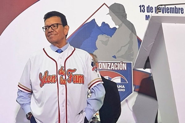 Fernando Valenzuela fue entronizado al Salón de la Fama. Twitter: SDFBeisbolMx