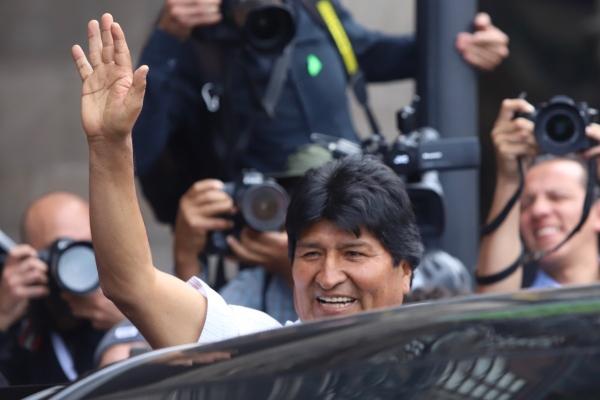 Evo Morales en la Ciudad de México. Foto: Víctor Gahbler