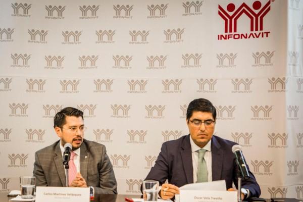 Titulares del Infonavit en rueda de prensa. Foto: Especial