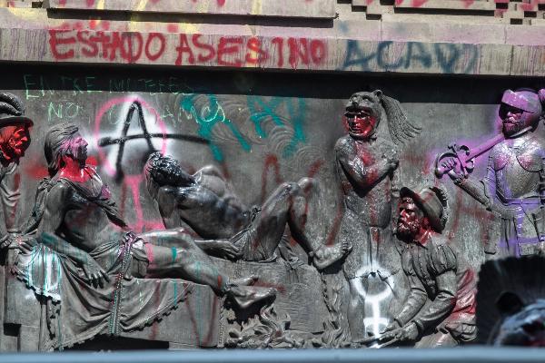 Se deslegitima marcha feminista con acciones de vandalismo Héctor Barrera