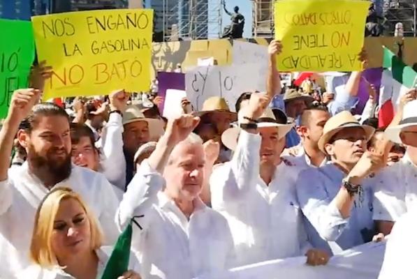 Autoridades capitalinas contabilizan más de 500 personas concentradas. FOTO: Especial