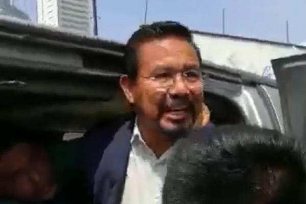 Cipriano Charrez, diputado desaforado fue detenido por elemento de la policía investigadora de la Procuraduría de Justicia de Hidalgo, y policías capitalinos, tras estar implicado por homicidio culposo en un accidente vial en 2018 Ixmiquilpan. Foto: Cuartoscuro