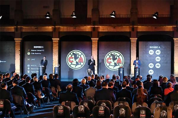 DESTINO. El sorteo de la Liga de Campeones fue en el Claustro de Sor Juana. Foto: Mexsport