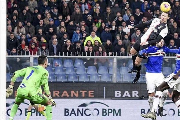 cristiano ronaldo gol juventus vs sampdoria