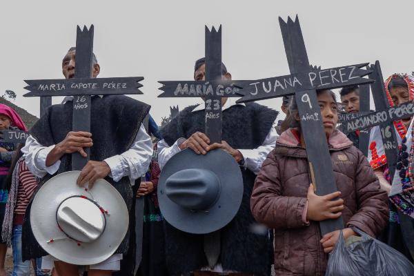 CHENALHÓ. Después de más de dos décadas, los sobrevivientes exigen justicia. Foto: Marcopolo Heam