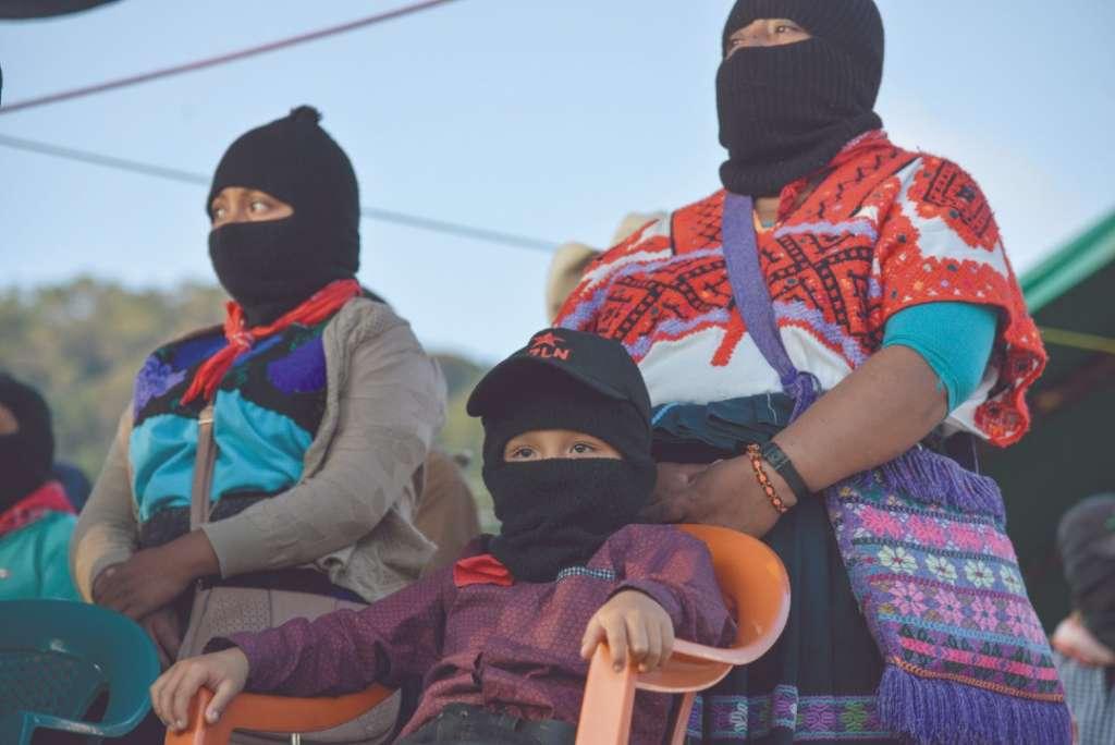 RESISTENCIA. Mujeres de 49 países atentas al discurso de la comandanta Yesica. Foto: Cuartoscuro
