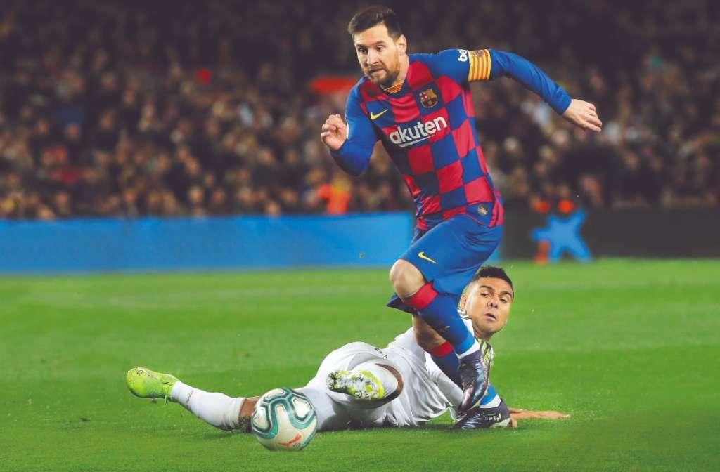 FIGURA. El argentino Leo Messi es el crack de la Liga de España. Foto: AP