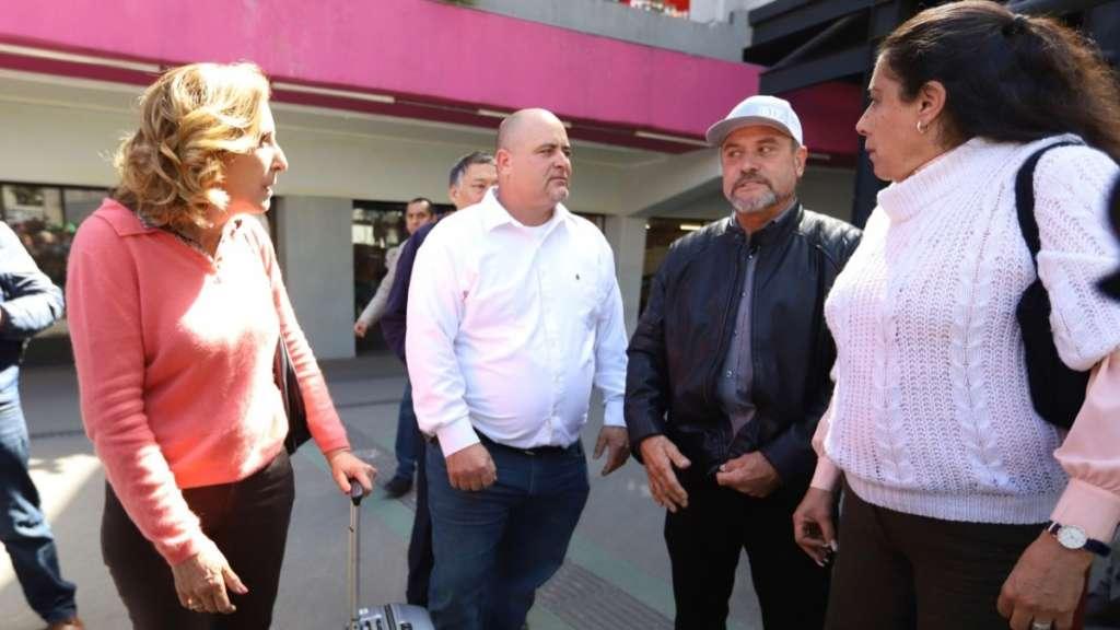 Primero se reunieron con autoridades de la Subprocuraduría Especializada en Investigación de Delincuencia Organizada. Foto: Víctor Gahbler
