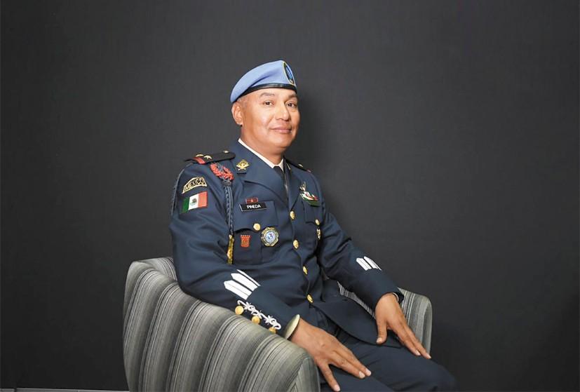 PACIFICADOR. Vitalio Pineda Díaz es el jefe de los Cascos Azules en México. Foto: Leslie Pérez