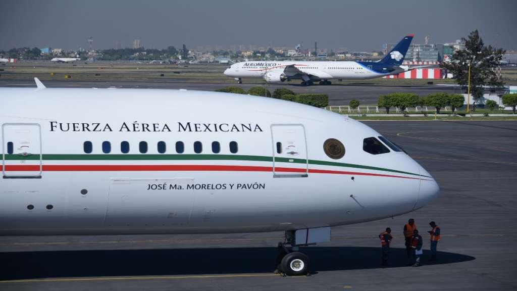 El avión Boeing 787-8 regresó a México.  FOTO: PRESIDENCIA /CUARTOSCURO.COM
