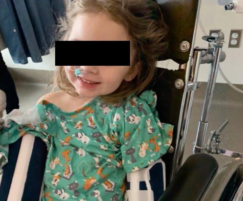La pequeña sufrió un daño cerebral severo. FOTO: Especial