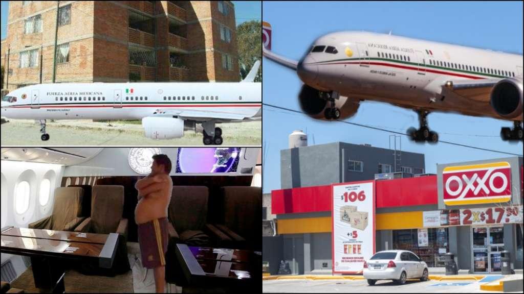 Usuarios en redes sociales se pusieron creativos e imaginaron cómo se vería en su hogar la aeronave. FOTO: ESPECIAL