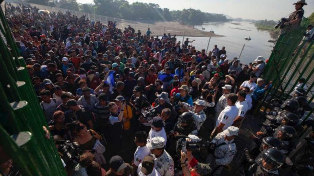 frontera guatemala mexico migrantes caravana migrantes