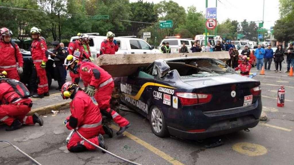 Escenifican rescate Tlatelolco simulacro