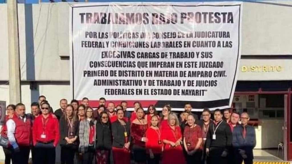 trabajadores juzgados amparaos protestas trabajo condiciones inhumanas