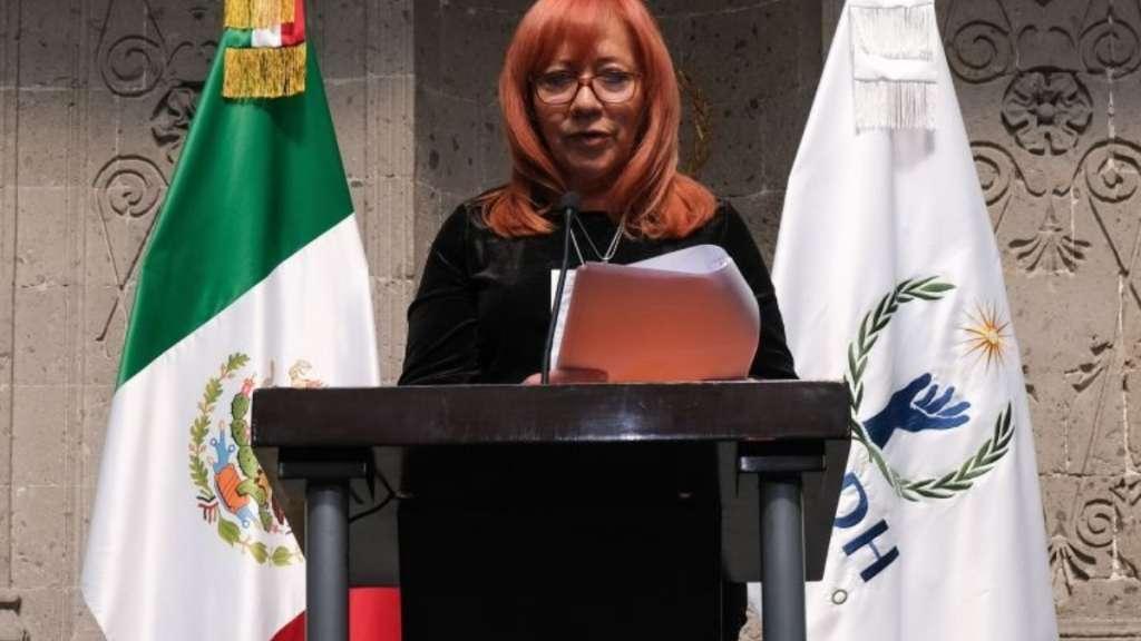 Rosario Piedra dio a conocer su primer informe frente a la CNDH. FOTO: CUARTOSCURO