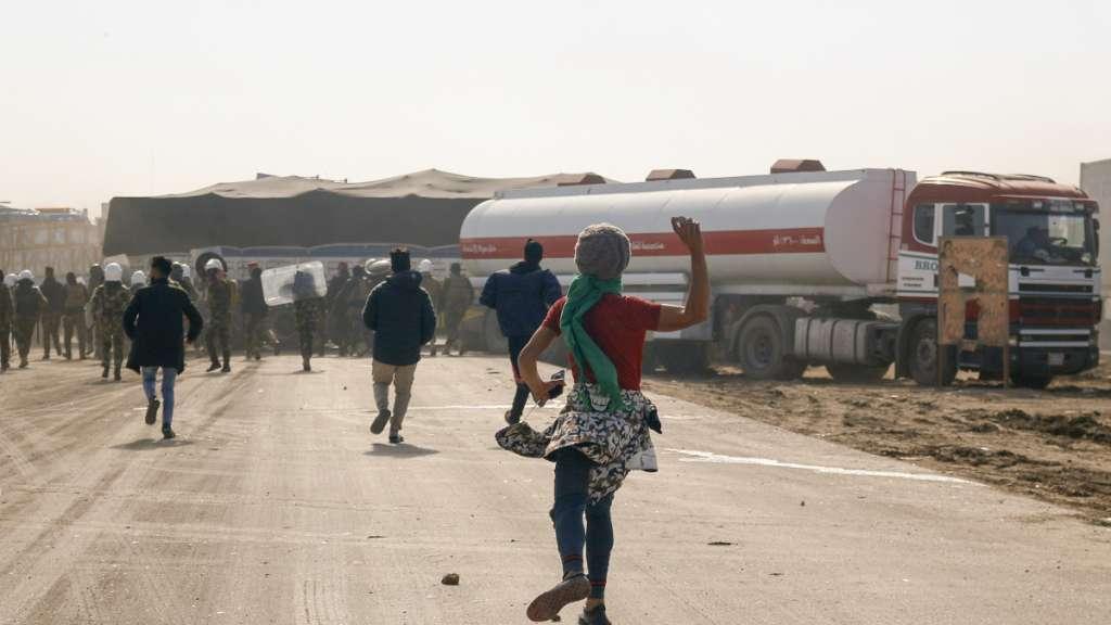manifestantes muertos en Irak