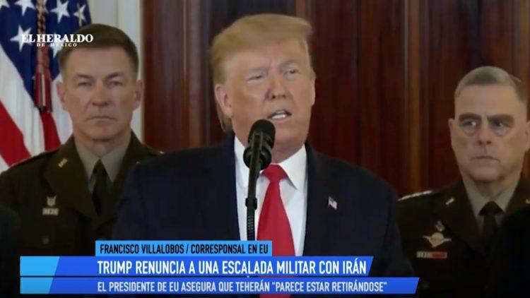 Trump mensaje guerra irán