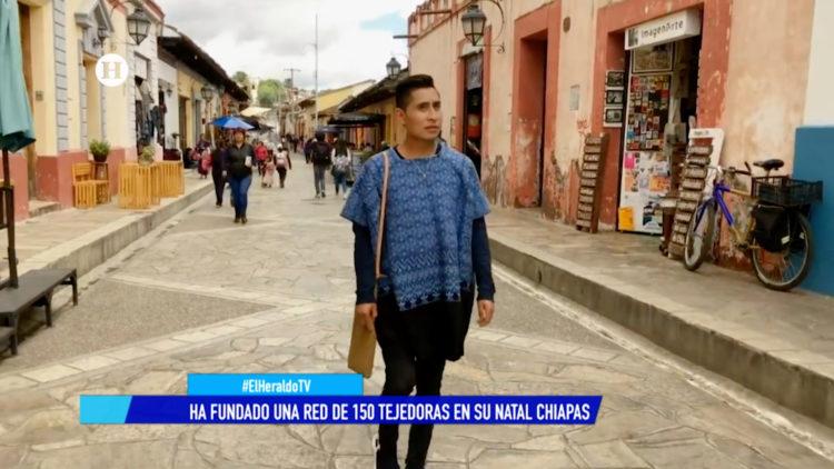 Alberto López Gómez diseñador tzotzil Chiapas Nueva York El Heraldo TV